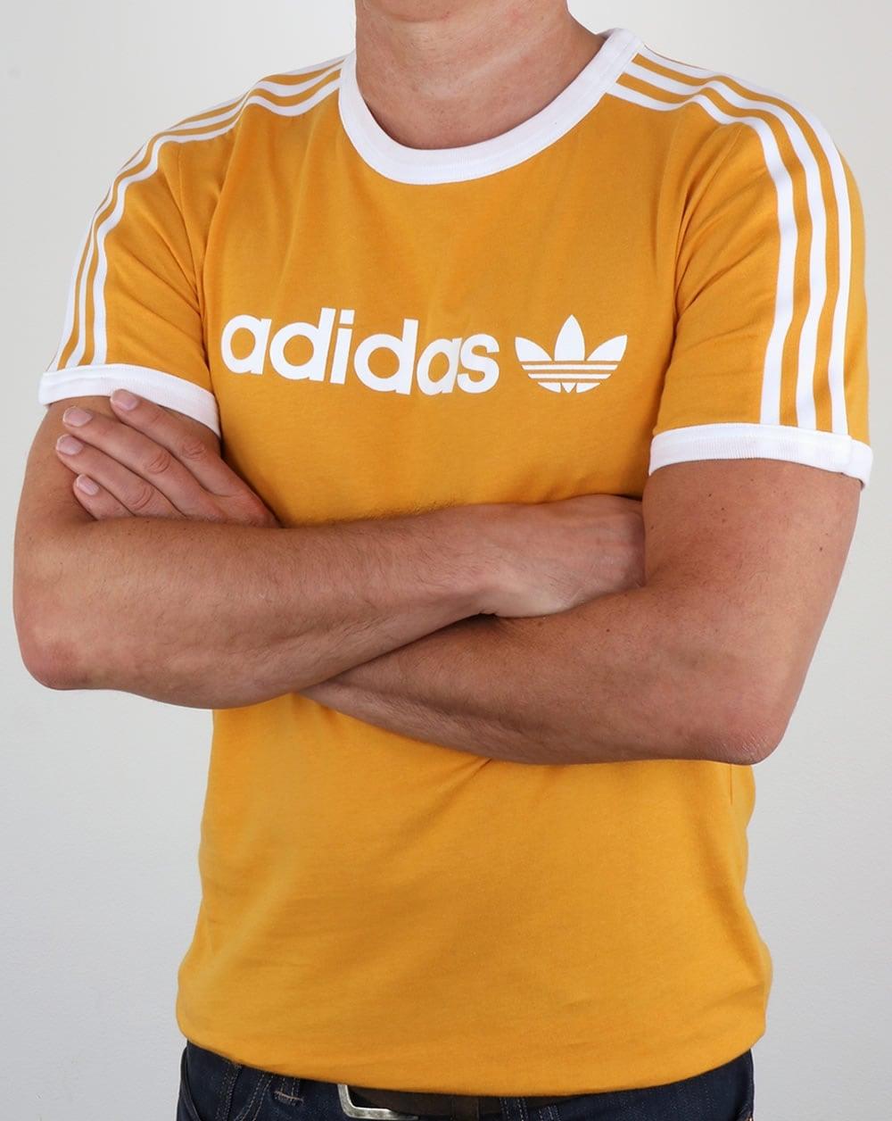 adidas Trefoil Tactile Yellow T Shirt