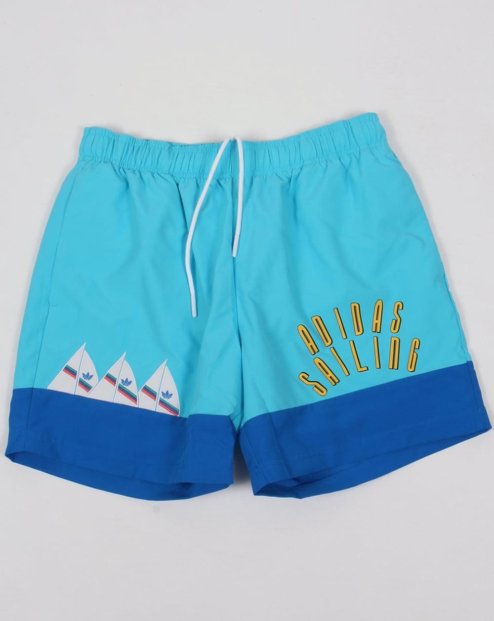Adidas Originals Sailing Shorts Blue Swim Beach Mens Swimmers