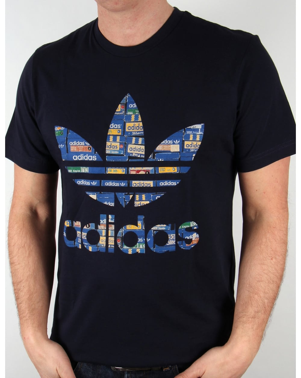 adidas originals shoebox trefoil t shirt legend ink. Black Bedroom Furniture Sets. Home Design Ideas