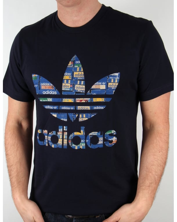 Adidas Originals Shoebox Trefoil T-shirt Legend Ink