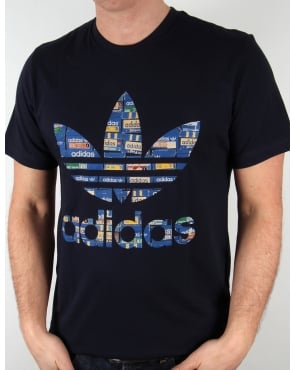 Adidas Originals Shoebox Trefoil T-shirt Legend Ink