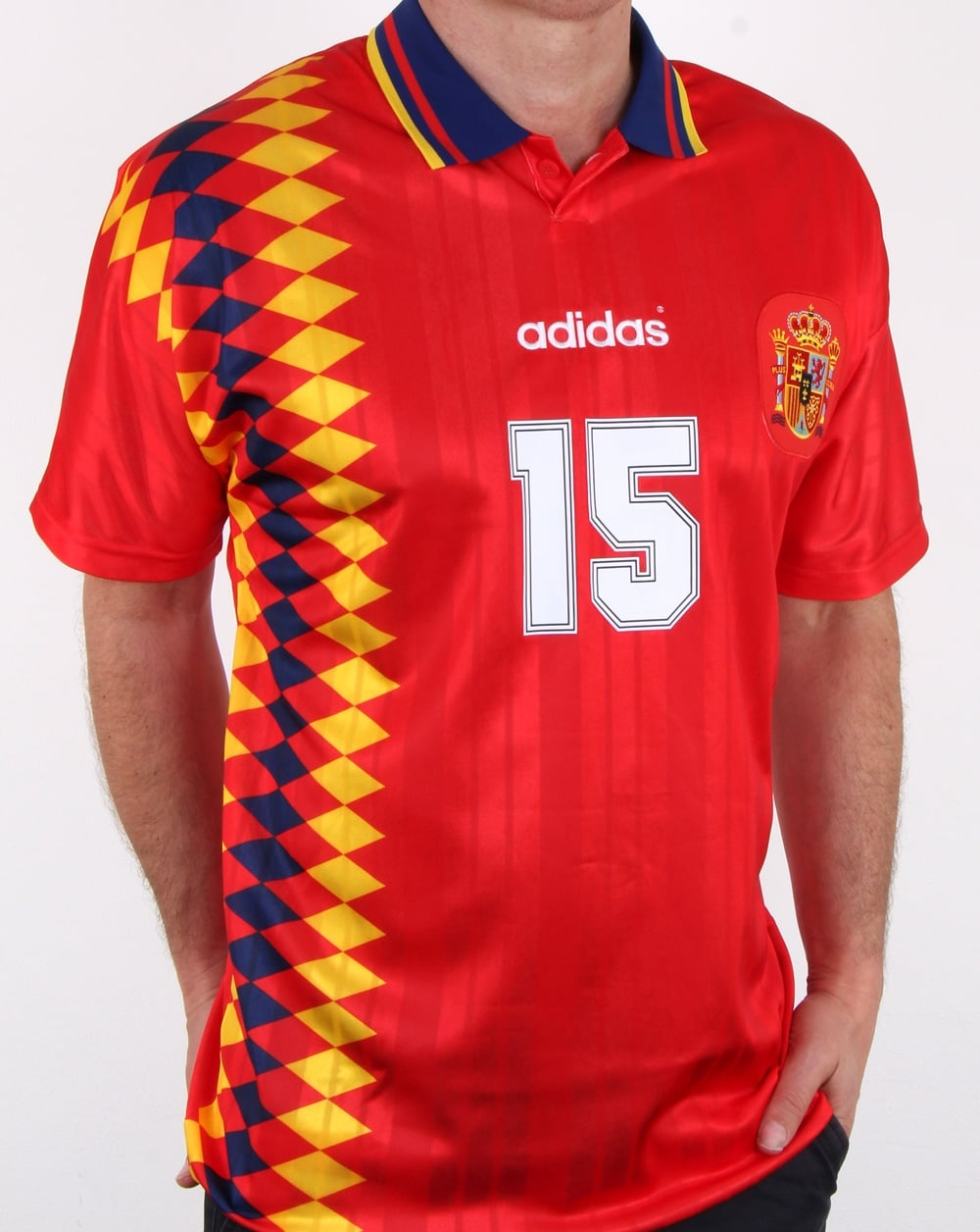 67341e732 Adidas Originals Spain Jersey Red, Mens, Football, World Cup, 1994