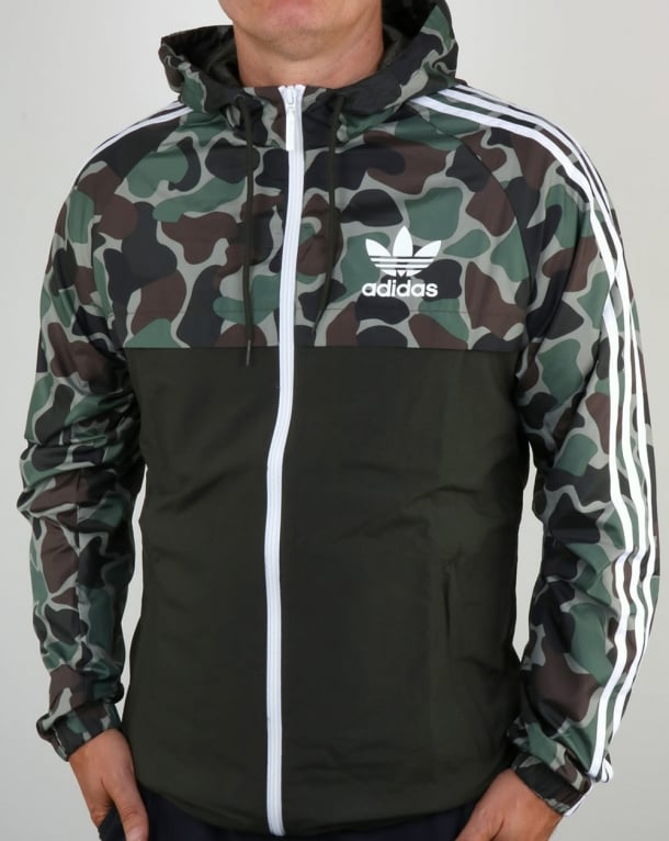 adidas originals camo reversible windbreakermens jacket parka shower proof. Black Bedroom Furniture Sets. Home Design Ideas