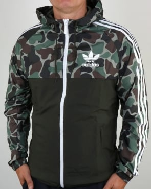 Adidas Originals split khaki Camo Windbreaker