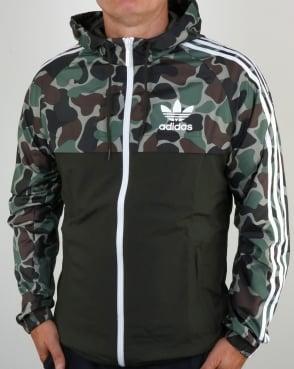 Adidas Originals split khaki Camo Windbreaker