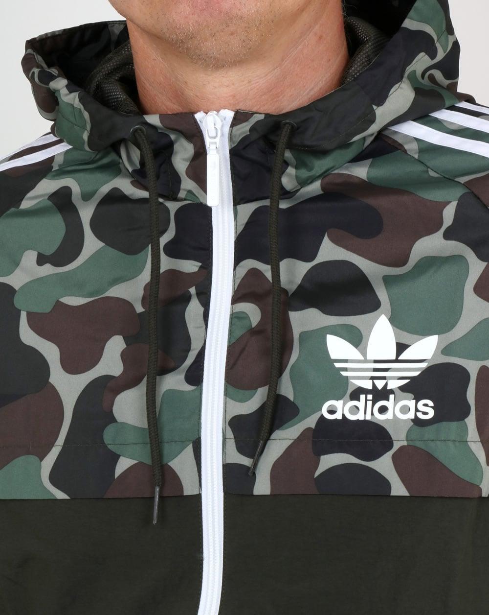 6d818f36a0d03 Adidas Originals Camo Reversible Windbreakermens,jacket,parka,shower ...