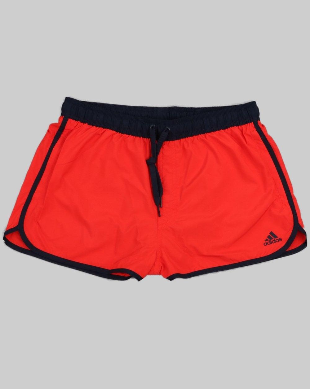 7a2d4881e7fab adidas Originals Adidas Originals Split Swim Shorts Active Red