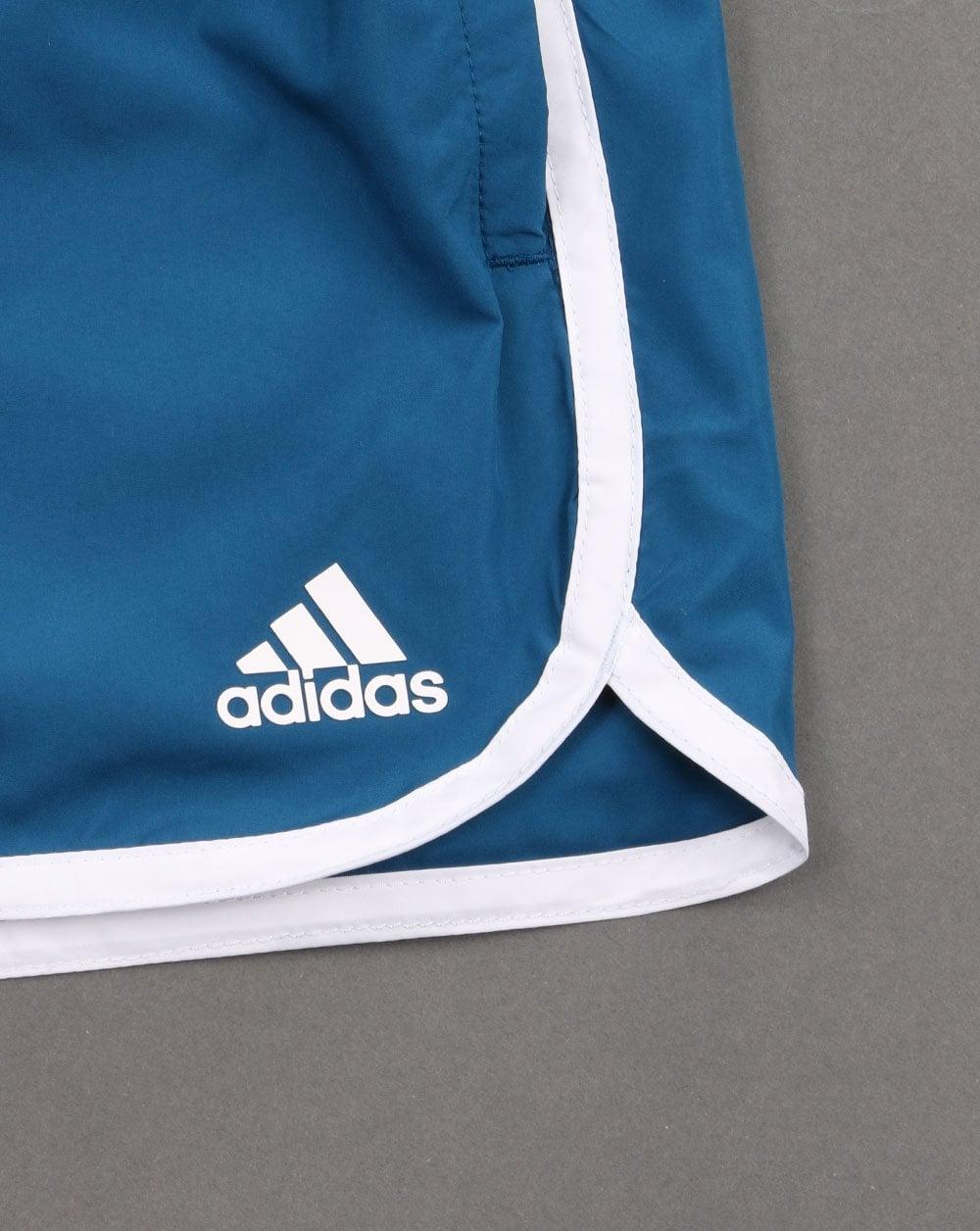 bd118de84 Adidas Originals Split Swim Shorts Deep Blue | 80s Casual Classics