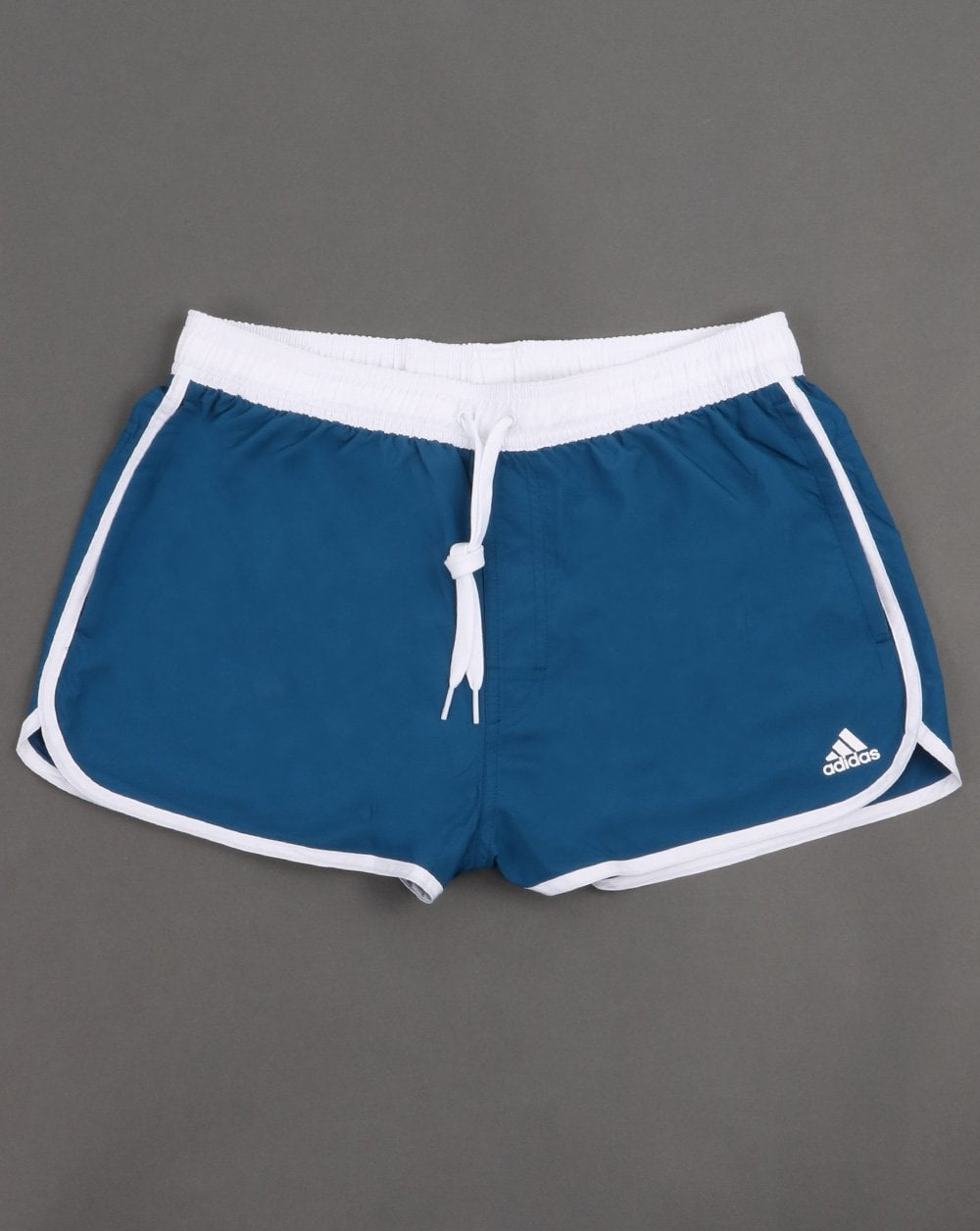3b97a3c342 Adidas Originals Split Swim Shorts Deep Blue | 80s Casual Classics