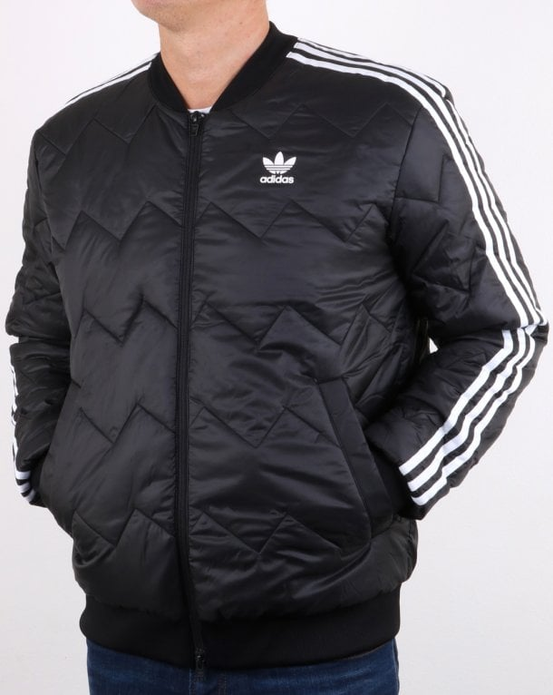 Adidas Originals Sst Quilted Jacket Black Mens 3 Stripes