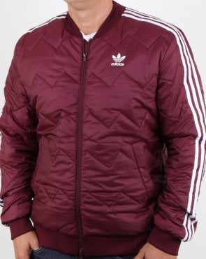 Adidas Originals Sst Quilted Jacket Maroon
