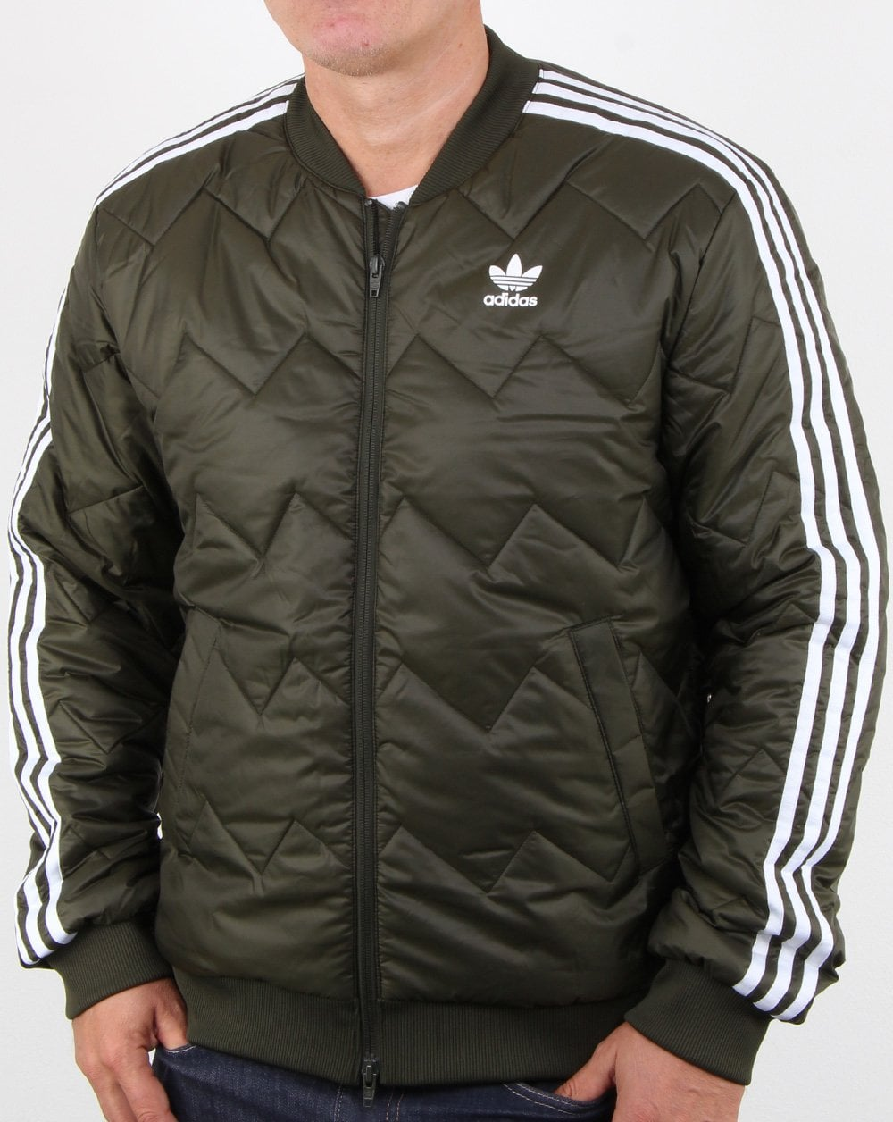 f752e8bf90d24f Adidas Originals SST Quilted Jacket Night Cargo | 80s casual classics
