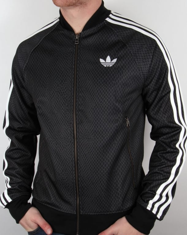 Adidas Originals Street Superstar Snake Track Top Black