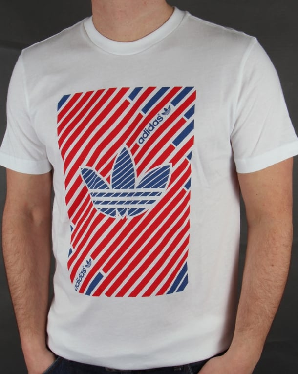 Adidas Originals Stripes Trefoil T-shirt White