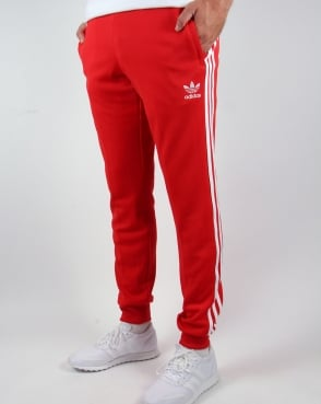 Adidas Originals Superstar Cuffed Track Bottoms Red