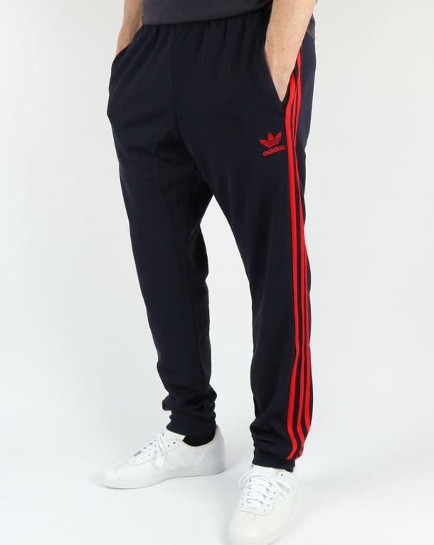 Adidas Originals Superstar Cuffed Track Pants Navy Red
