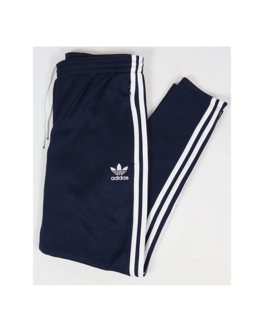 Adidas Originals Superstar Open Hem Track Bottoms Navywhite