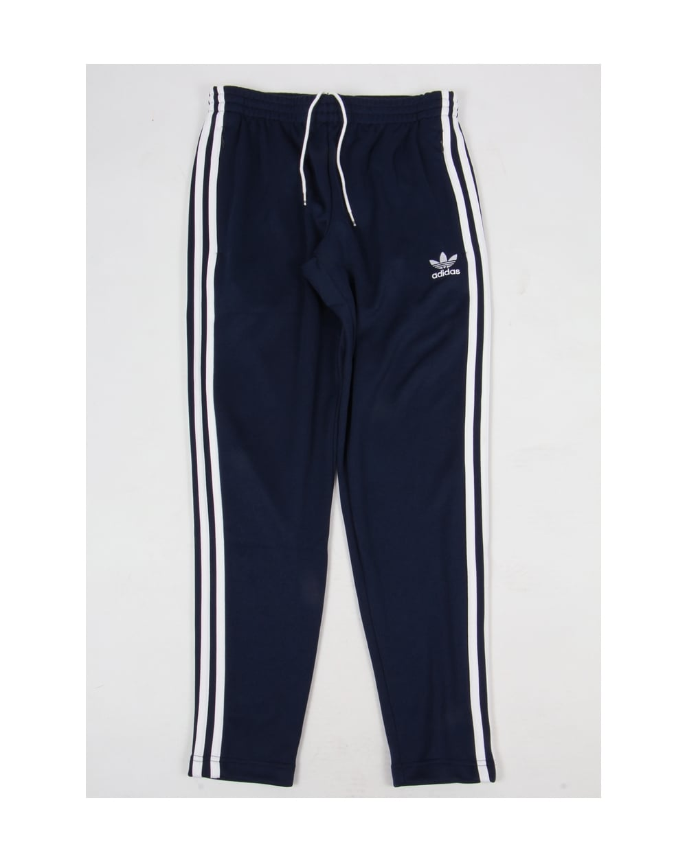 adidas originals superstar open hem track bottoms navy white originals superstar track pants. Black Bedroom Furniture Sets. Home Design Ideas