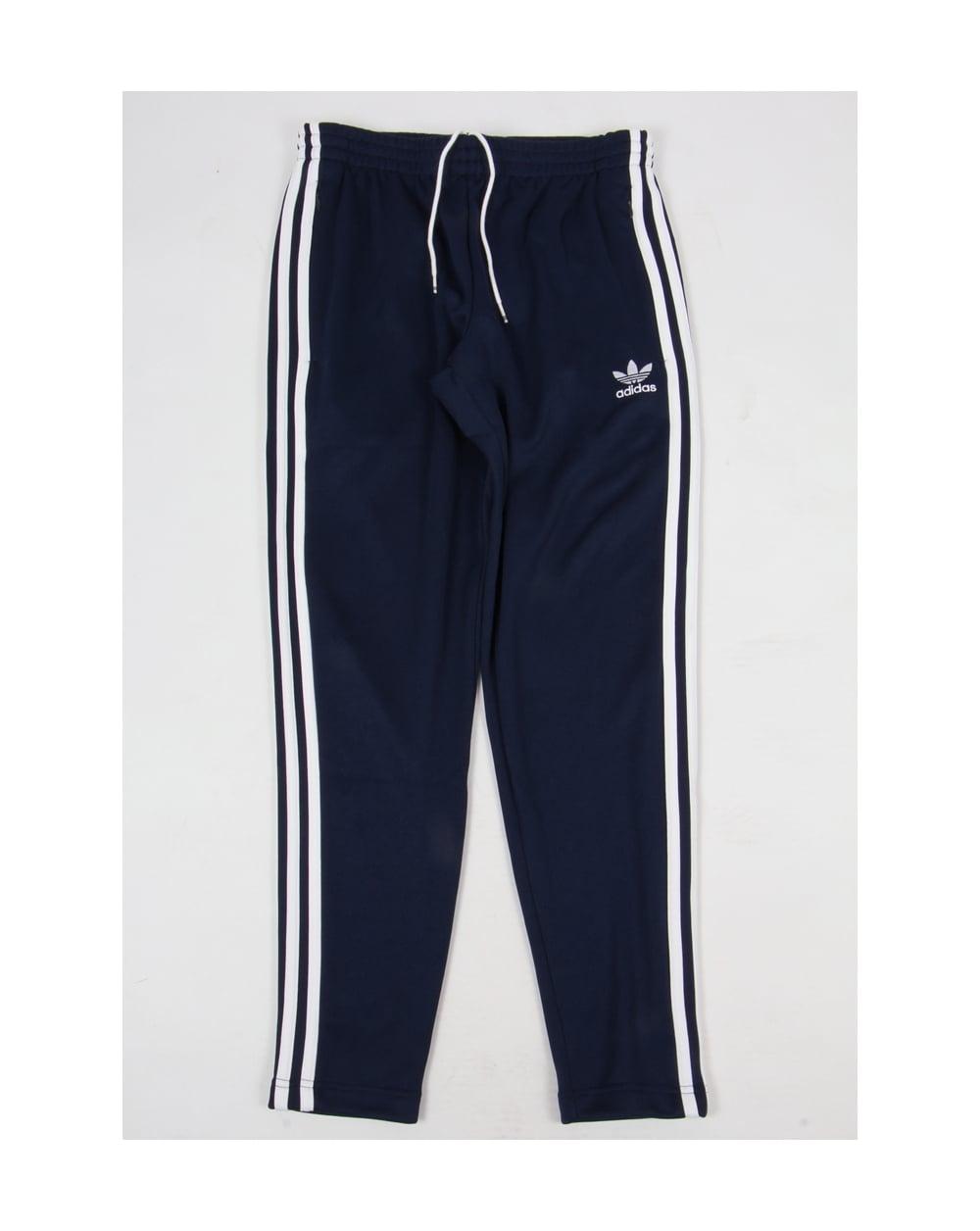 53ee01d1 Adidas Originals Superstar Open Hem Track Bottoms Navy/white