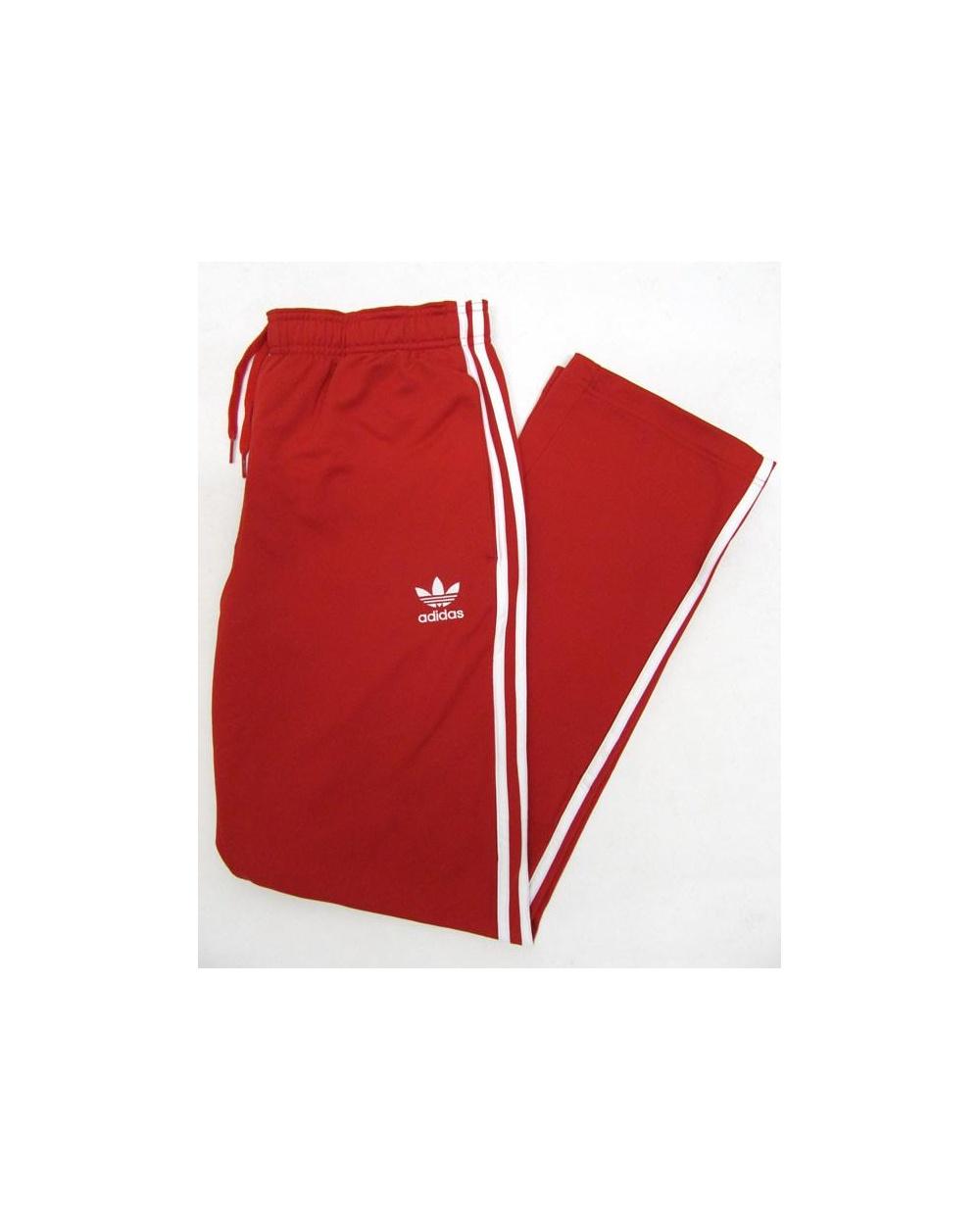 Adidas Originals Superstar Track Bottoms RedWhite