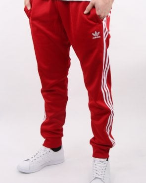 Adidas Originals Superstar Track Pants Power Red