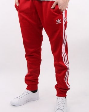 ca596ef23c5f Adidas Originals Superstar Track Pants Power Red