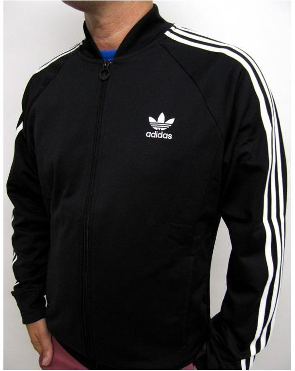 Adidas Originals Superstar Pista Superiore - Nero / Bianco xsV7k