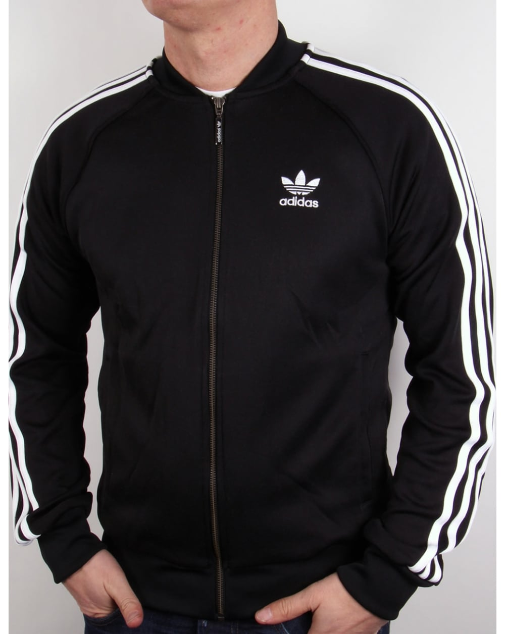 Adidas Originals Superstar Pista Superiore - Nero / Bianco o9vR8tc