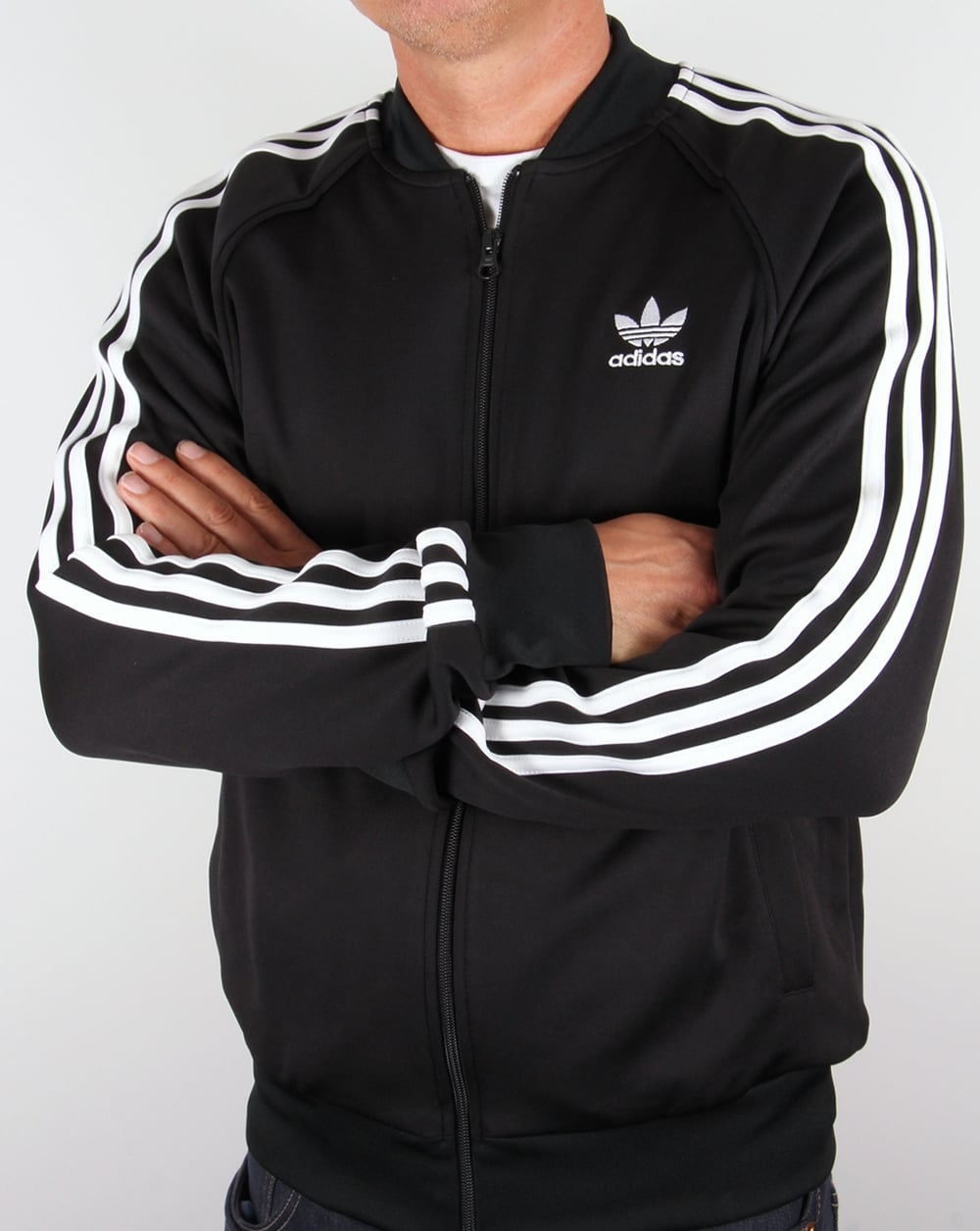 adidas originals superstar track top black white supremacist