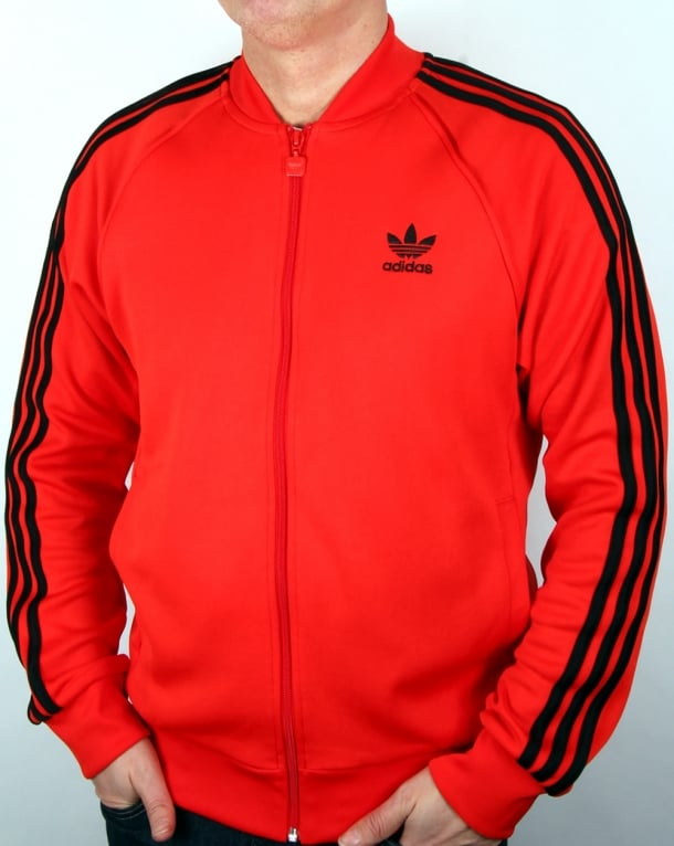 Rtqcr Pista Chaqueta La De Pesca2 Superstar es Adidas Hombre Rojo Para xq1S88