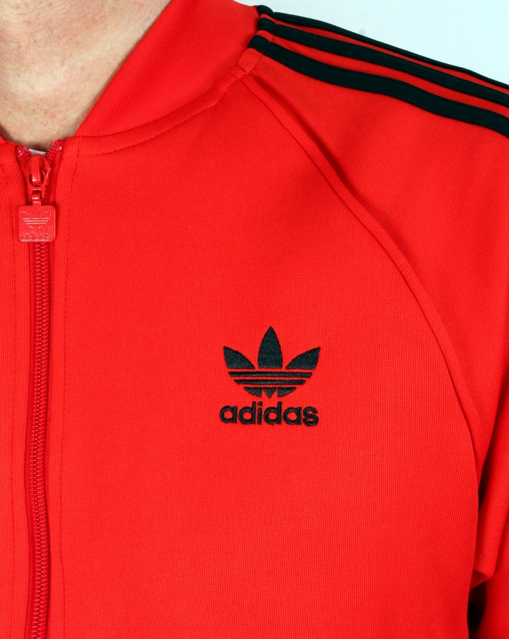 adidas originals superstar track top core red men 39 s jacket. Black Bedroom Furniture Sets. Home Design Ideas
