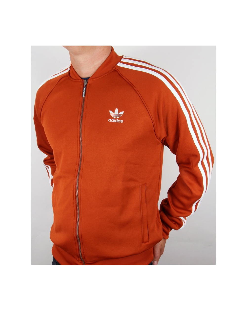 Adidas Originals Superstar Track Top Fox Red White Adidas