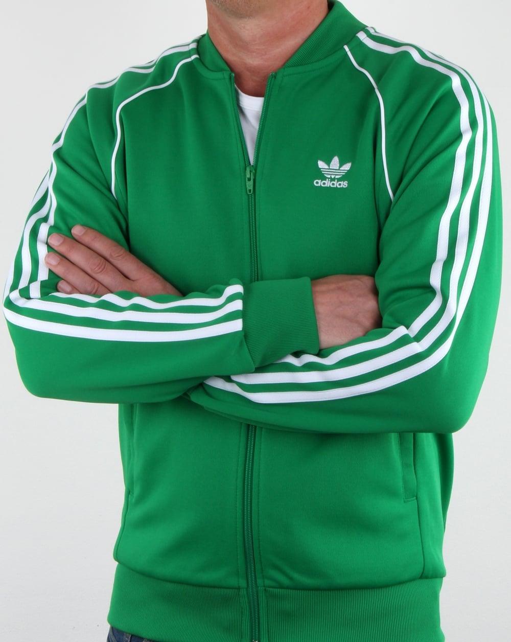 dfedd4bd1502 adidas Originals Adidas Originals Superstar Track Top Green