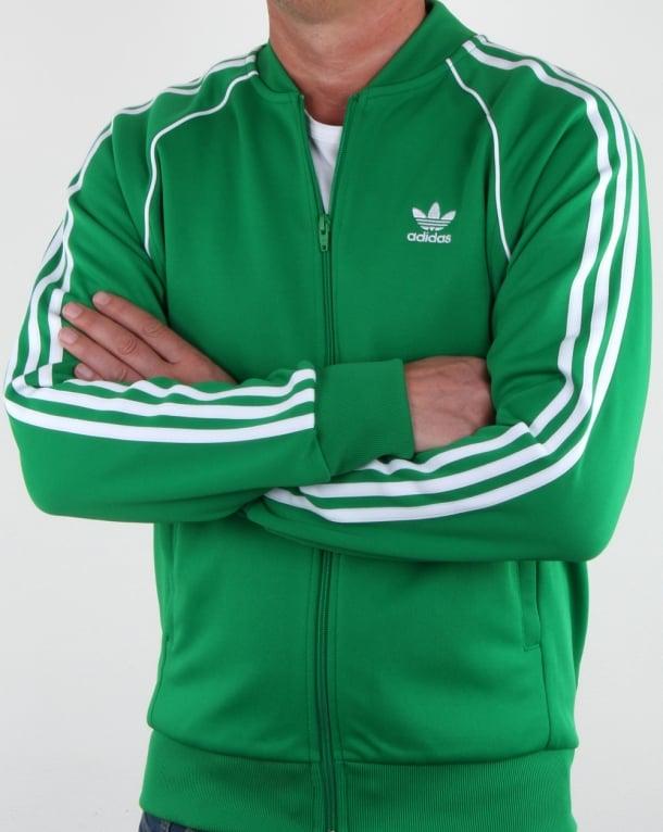 Adidas Originals Superstar Track Top Green Mens
