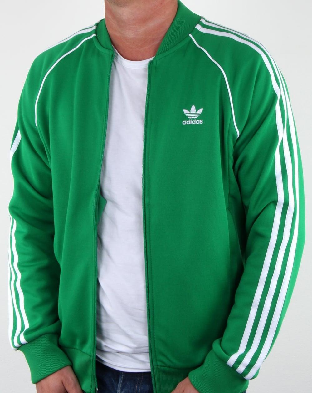 b1b1b8ca054 Adidas Originals Superstar Track Top Green