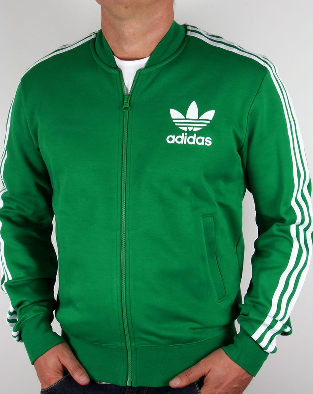 adidas originals superstar track top green white. Black Bedroom Furniture Sets. Home Design Ideas