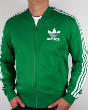 Adidas Originals Superstar Track Top Green/White