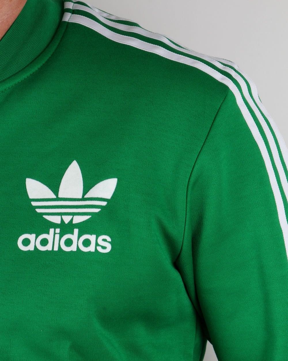 Adidas Originals Superstar Track Top Green/White, Tracksuit,Adicolour