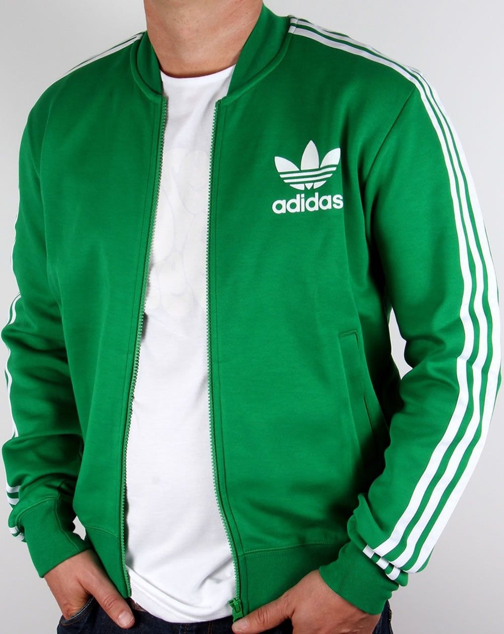c8928d6d9c83 Adidas Originals Superstar Track Top Green White