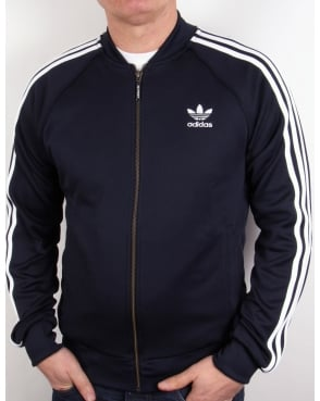 Adidas Originals Superstar Track Top in legend Navy/White