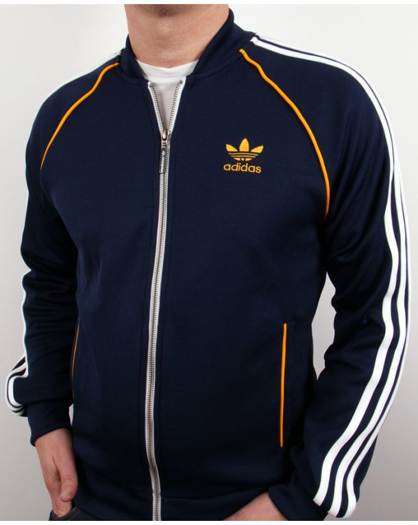 adidas originals superstar track top white navy. Black Bedroom Furniture Sets. Home Design Ideas