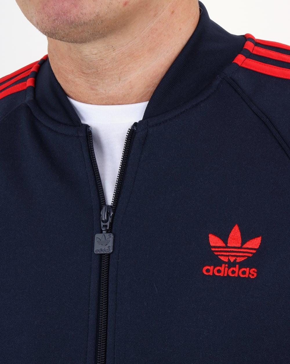 Adidas Pista Originales Superestrella Superior De Color Azul Marino CqueWW