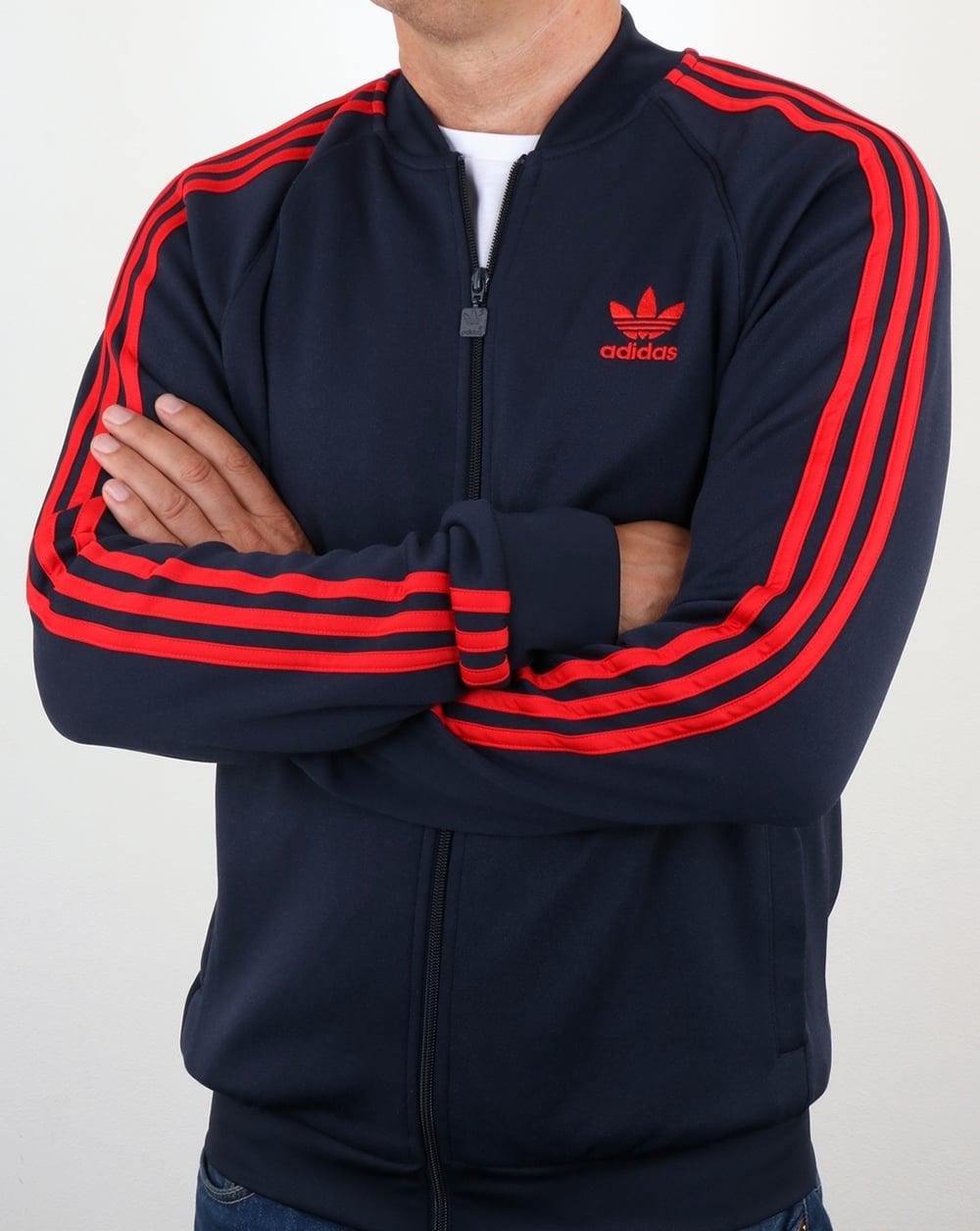 adidas Originals Adidas Originals Superstar Track Top Navy Red e3a06a9c9e89
