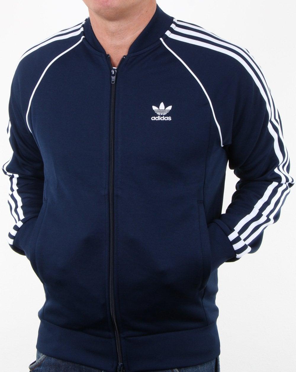 Adidas Originals Superstar Track Top Navy 80s Casual