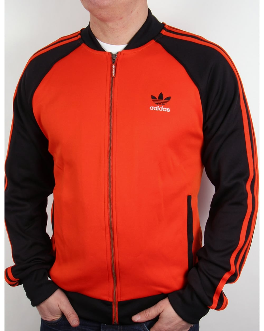 adidas originals superstar track top orange black jacket. Black Bedroom Furniture Sets. Home Design Ideas