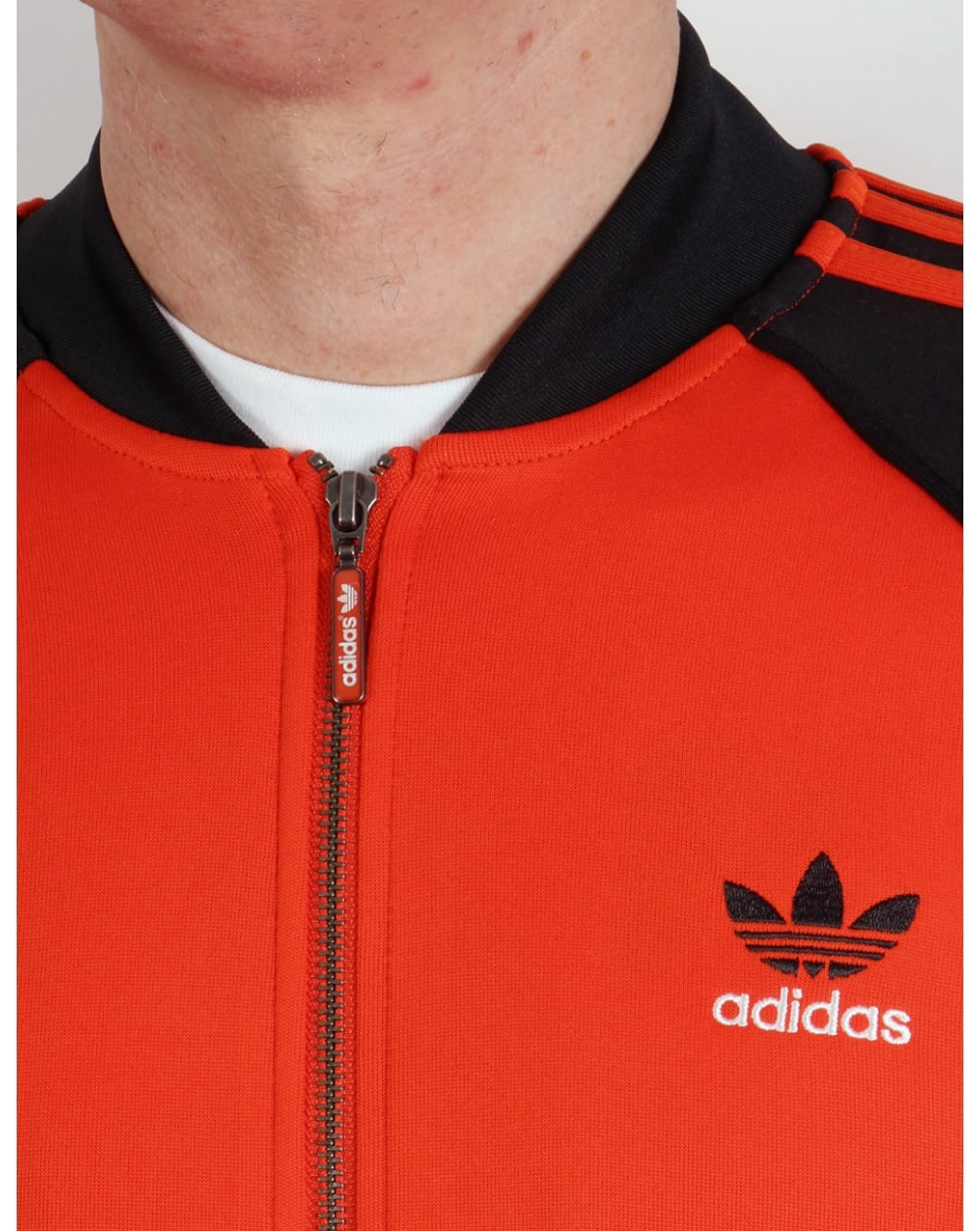 Adidas Originals Superstar Track Top Orange Black Jacket