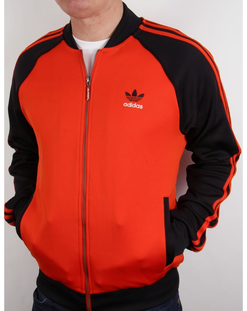 Adidas Originals Para Hombre Spo Superior Pista Súper Estrella - Rojo Negro lCYNuj