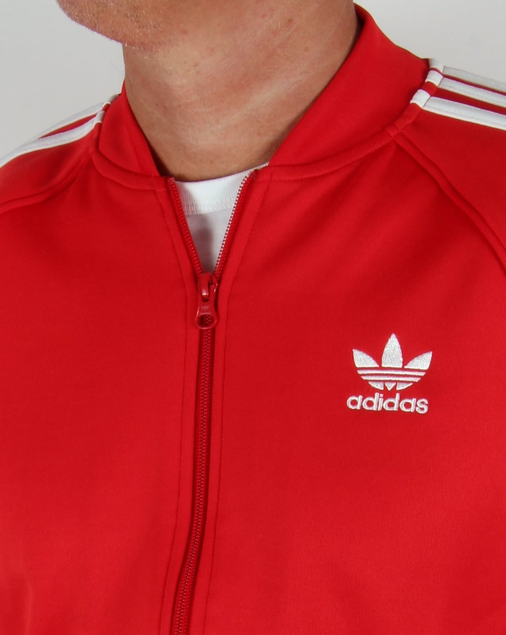 adidas originals superstar track top vivid red tracksuit. Black Bedroom Furniture Sets. Home Design Ideas