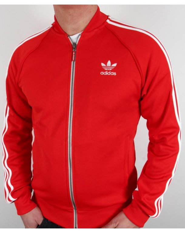 Adidas Originals Superstar Track Top Red/white