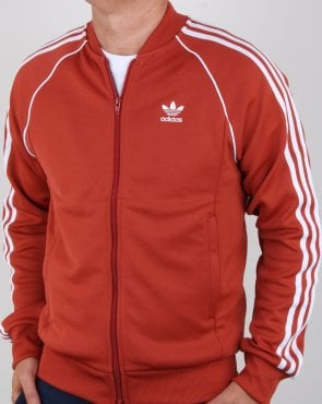 Adidas Originals Superstar Track Top Rust Orange